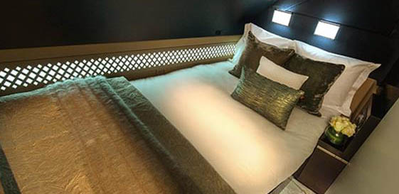 The Double Bed featured in The Residence aboard the Etihad A380